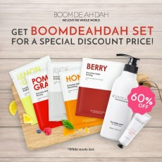 [Boomdeahdah Set] (Everyday Mask 5ea+Hand Cream Lotus+Rose Body Lotion)