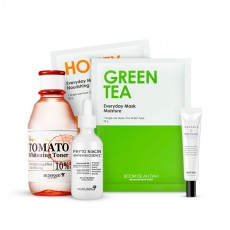 [Snow White Whitening Set] Tomato Whitening Toner+Whitening Essence+Whitening Eye Cream+Mask