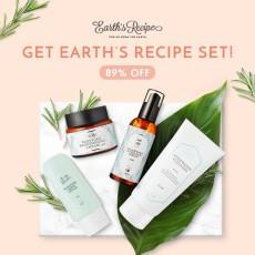 Earth's Recipe Set (Cleanser+Serum+Light Cream+Brightening Cream)