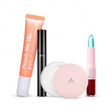 [Snow White Makeup Set] Peach me tone up cream+Petal Powder+Luxe Mascara+Sixteen Tint