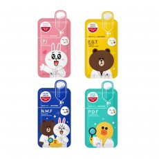 [Seoul Beauty Trends_Jan] Line Friends Ampoule Mask_02. Set (Buy 5 Get 1 Free)
