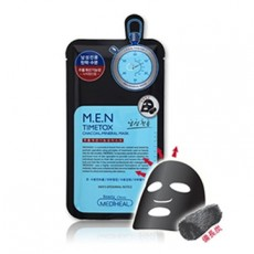 M.E.N_Timetox Charcoal Mineral Mask-Single Sheet