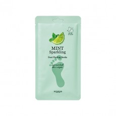 Mint Sparkling Foot Peeling Socks
