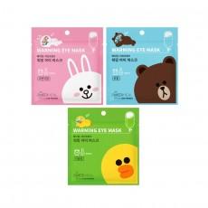 [Seoul Beauty Trends_Dec] Line Friends Warming Eye Mask_01. Single Sheet