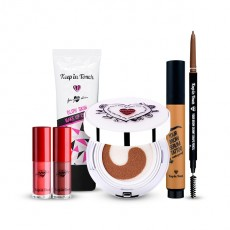 [Snow White x Keep in Touch Makeup Set] Glow Cream+Cushion+Lip Tattoo+Brow Pencil+Brow Tattoo