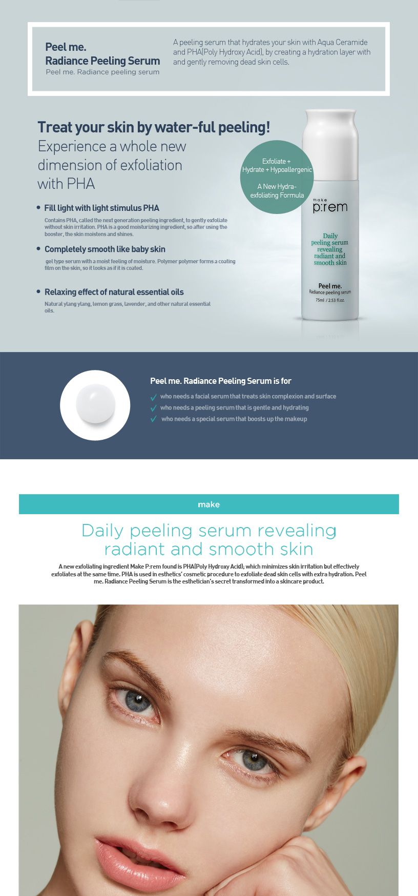 Buy make prem peel me radiance peeling serum online at althea details ccuart Image collections